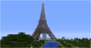 Minecraft Review Picture of Eiffel Tower in Minecraft Review