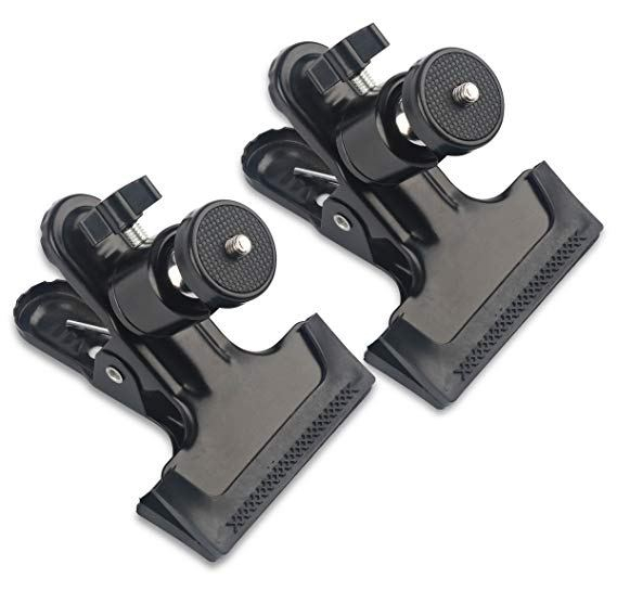 image of clamps used to mount the htc vive light houses, part of the needed equipment for this vr setup