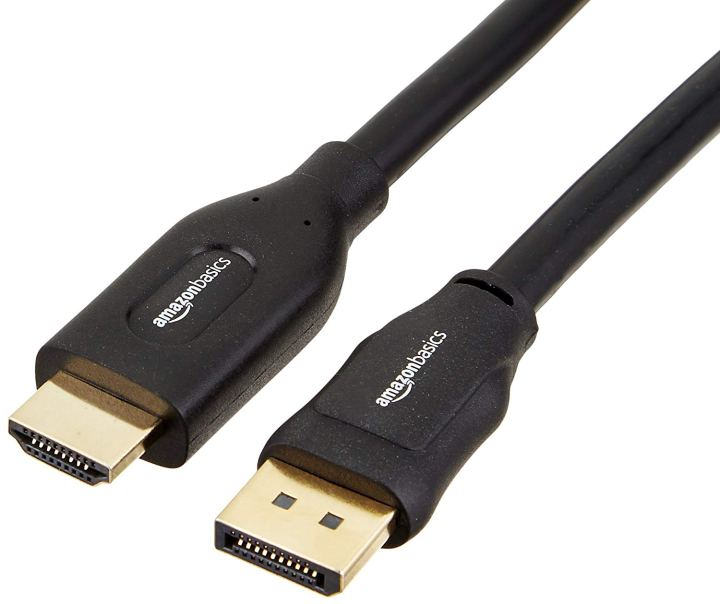 picture of display port hdmi cables, part of the needed equipment and accessories for htc vive vr set